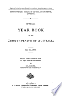 Official Year Book Of The Commonwealth Of Australia No 44 1958