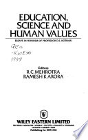 Education, Science, and Human Values