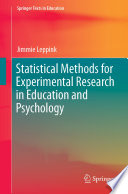 Statistical Methods for Experimental Research in Education and Psychology Book