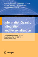 Pdf Information Search, Integration, and Personalization Telecharger