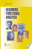 Beginning Functional Analysis Book PDF