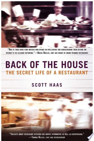 Back+of+the+HouseFood writer and clinical psychologist Scott Haas wanted to know what went on inside the mind of a top chef—and what kind of emotional dynamics drove the fast-paced, intense interactions inside a great restaurant. To capture all the heat and hunger, he spent eighteen months immersed in the kitchen of James Beard Award-winner Tony Maws' restaurant, Craigie on Main, in Boston. He became part of the family, experiencing the drama first-hand. Here, Haas exposes the inner life of a chef, what it takes to make food people crave, and how to achieve greatness in a world that demands more than passion and a sharp set of knives. A lens into what motivates and inspires all chefs—including Thomas Keller, Andrew Carmellini, whose stories are also shared here—Back of the House will change the way you think about food—and about the complicated people who cook it and serve it.