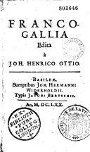 Franco-Gallia, edita a Joh. Henrico Ottio