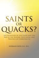 Saints or Quacks? Pdf/ePub eBook