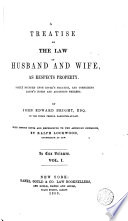 A Treatise on the Law of Husband and Wife