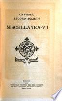 Catholic Record Society Publications  Records Series
