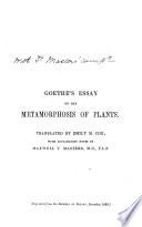 Goethe's Essay on the Metamorphosis of Plants