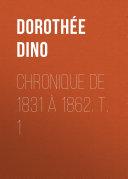 Pdf Chronique de 1831 à 1862. T. 1 Telecharger