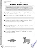 Informational Text Vocabulary Practice