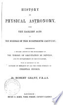 History of Physical Astronomy Book