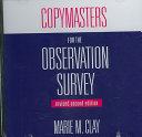 Copymasters For The Observation Survey