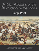 A Brief Account of the Destruction of the Indies Book PDF