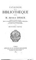 Catalogue de vente des livres de Arthur Dinaux, du 14 à 29 decembre 1864