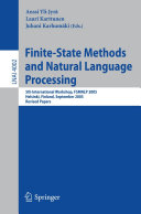 Finite State Methods and Natural Language Processing