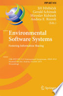 Environmental Software Systems  Fostering Information Sharing