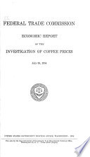 Economic Report of the Investigation of Coffee Prices
