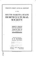 Pdf Annual Report of South Dakota State Horticultural Society