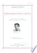Shakespeare's midsummer-night's dream, Midsummer-night's dream