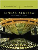 Linear Algebra with Applications Book