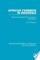 African Farmers In Rhodesia