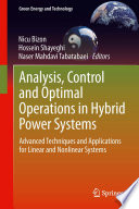 Analysis, Control and Optimal Operations in Hybrid Power Systems