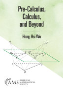 Pre Calculus  Calculus  and Beyond