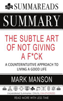The Subtle Art Of Not Giving A F Ck A Counterintuitive Approach To Living A Good Pdf/ePub eBook