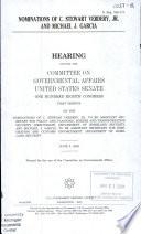 108 1 Hearing  Nominations of C  Stewart Verdery  Jr  and Michael J  Garcia  S  Hrg  108 171  June 5  2003