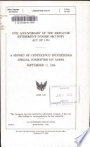 10th Anniversary of the Employee Retirement Income Security Act of 1974