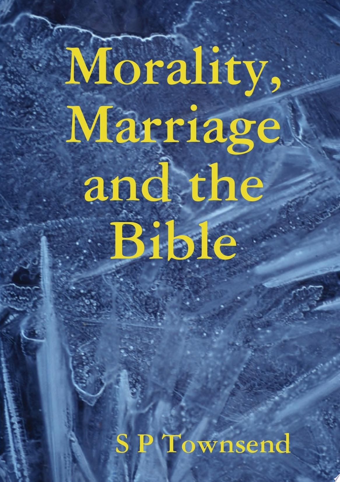 Morality  Marriage and the Bible