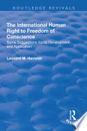The International Human Right to Freedom of Conscience