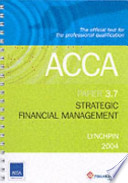 Acca Strategic Financial Management 3.7 Lynchpin
