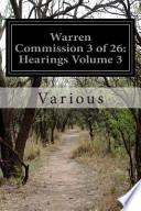 Warren Commission 3 of 26