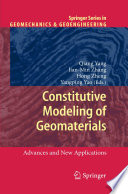 Book Cover: Constitutive Modeling of Geomaterials