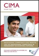 Topcima Paper T4 Test Of Professional Competence In Management Accounting Study Text For 2011 2012