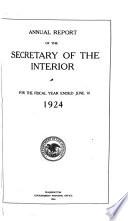 Annual Report   The Secretary of the Interior