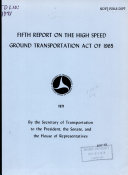 Report on the High Speed Ground Transportation Act of 1965