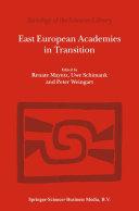East European Academies in Transition