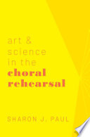 Art Science In The Choral Rehearsal Book