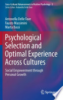 Psychological Selection and Optimal Experience Across Cultures Book