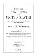 New History of the United States  from the Discovery of the American Continent to the Present Time