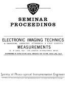 Electronic Imaging Technics for Engineering