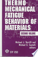 Thermomechanical Fatigue Behavior of Materials Book