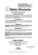 Haines     Directory  San Jose  California  City and Suburban