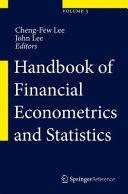 Handbook Of Financial Econometrics And Statistics Book PDF