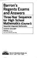 Barron s Three Year Sequence for High School Mathematics