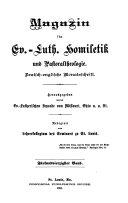 Magazin f  r ev  luth  Homiletik und Pastoraltheologie Book