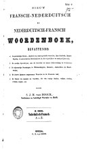 Nieuw Fransch-Nederduitsch en Nederduitsch-Fransch woordenboek