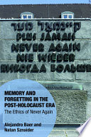 Memory and Forgetting in the Post Holocaust Era