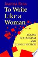 To Write Like a Woman Book